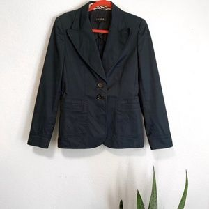 Escada | Navy Blue Cotton Blazer